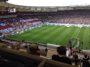Vor dem Anpfiff des Spiels Stuttgart gegen Schalke (Foto: twitter.com/AndiErnst)