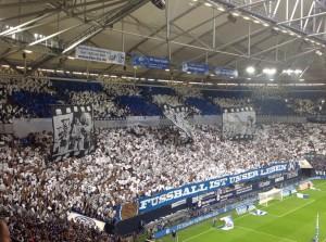 Die Fans des FC Schalke 04 sind in dieser Saison in Choreo-Laune. (Foto: twitter.com/AndiErnst)