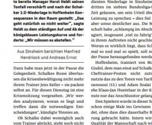 ... für WAZ.de, die WAZ Gelsenkirchen und auch für RevierSport (siehe Ausschnitt) unterwegs!