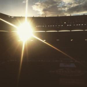 Das Hamburger Volksparkstadion um 18.20 Uhr! (Foto: twitter.com/AndiErnst)