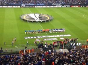 Ja, auch die Europa League hat eine eigene Hymne. (Foto: twitter.com/AndiErnst)