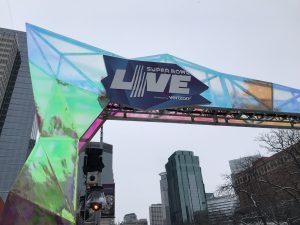 Immer wieder zu sehen: Super Bowl live!