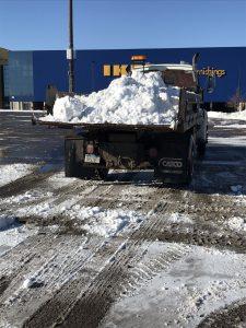 Wenn Schnee nur so transportiert werden kann.