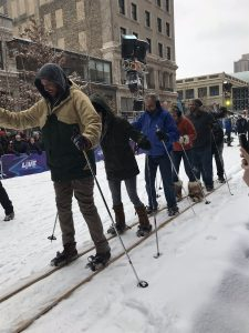 Mit Spaß inne Backen beim Ski-Langlauf!