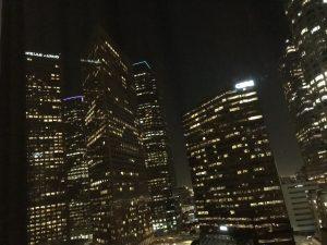 """Der Blick aus meinem Hotelzimmer im """"The Westin Bonaventure"""" am ersten Abend! Wow!"""