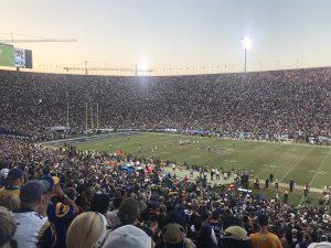 Was für eine Schüssel, das LA Coliseum.