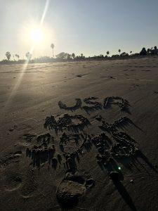 Am Strand von Santa Barbara.