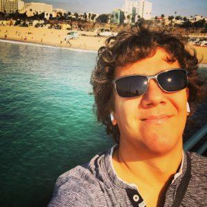 Am Santa Monica Pier bei 26 Grad.