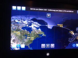 Der Flug über den Atlantik.