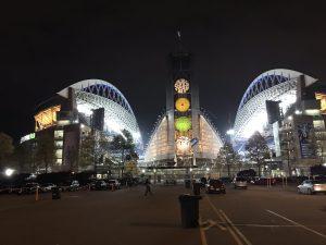 CenturyLink Field in der Nacht.