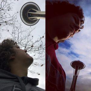 Space Needle - im Januar 2010 (r.) und knapp neun Jahre später (l.).