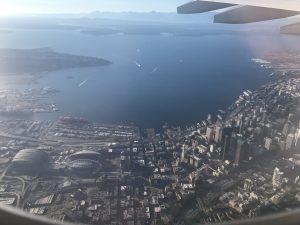 Der letzte Blick auf Seattles Zentrum.