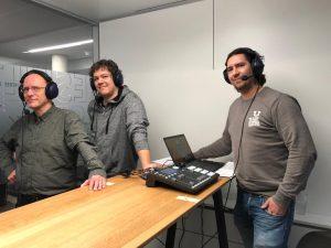 Am 28. November 2019 diskutierte ich mit Moderator Timo Düngen (r.) und meinem Sportchef Peter Müller.