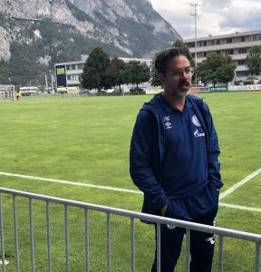 Da war David Wagner noch Trainer - Interview nach dem Testspiel in Kematen in Tirol gegen Saloniki.
