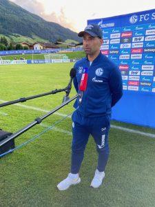 Trainer Dimitrios Grammozis nach dem letzten Testspiel.