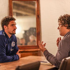 Interview mit Marcin Kaminski. (Foto: Tim Rehbein / RHR-Foto)