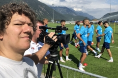 Mittendrin im Schalke-Trainingslager im August 2020