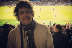 März 2018 - Etihad Stadium, Manchester, während des Champions-League-Spiels Manchester City vs. Schalke 04