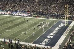 November 2018 - Vor dem entscheidenden Touchdown für die Seahawks im CenturyLink Field.