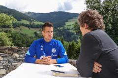 Interview mit Michael Langer auf der Schloss-Terrasse.