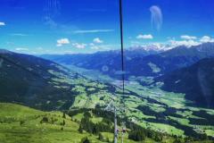 Einmal mit der Kitzbühler Panoramabahn hoch und wieder runter.