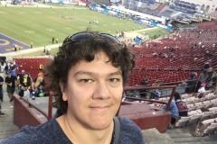 2018 - im Los Angeles Memorial Coliseum beim NFL-Spiel Los Angeles Rams gegen Seattle Seahawks